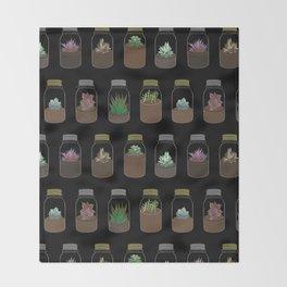 Tiny Terrariums Throw Blanket