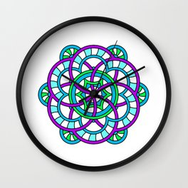 Celtic | Colorful | Mandala Wall Clock