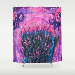 Nebula Pillar Terraria Shower Curtain