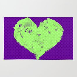 Feel in Watercolour: Violet/Green Rug