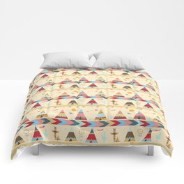 American Indian Tents Pattern Comforters