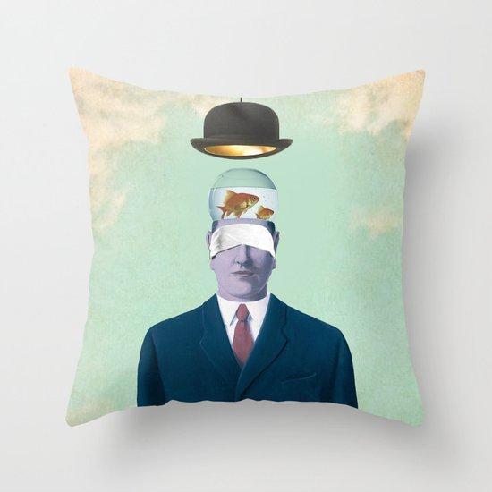 Under the Bowler Throw Pillow