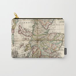 Vintage Map of Scotland (1718) Carry-All Pouch