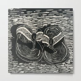 Sole Mates Metal Print