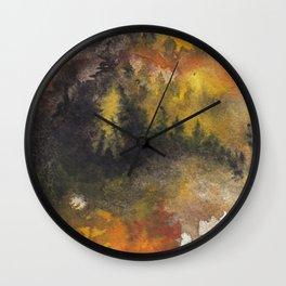 Forest fire Wall Clock