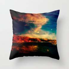 Red Rock South Throw Pillow