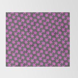 Dumbbellicious PINK GREY Throw Blanket