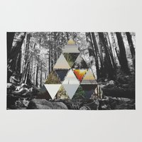 triangle Area & Throw Rugs featuring TRIANGLE by anjastensrud