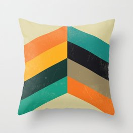 Mid Century Chevron Art Throw Pillow