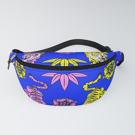 Tiger Neck Gaiter Cool Cats Pink Tigers and Yellow Tiger Neck Gator Fanny Pack