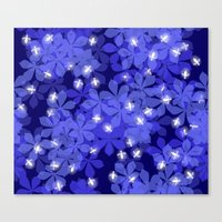 fireflies Canvas Prints featuring Fireflies by Heleen van Buul