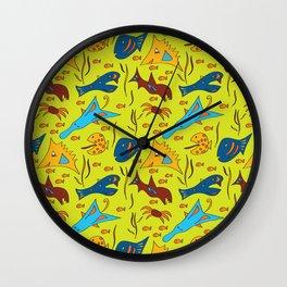 Crazy Fish Wall Clock