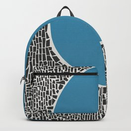 Abstract Blue Lake Backpack