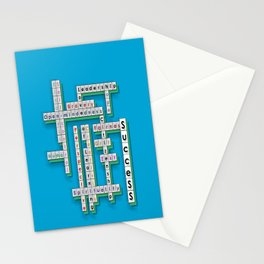 Cross Word Puzzle of Success Stationery Cards