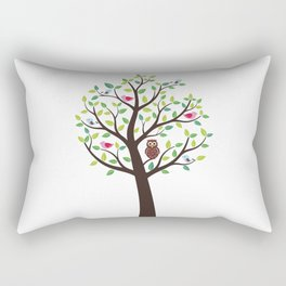 The bird tree guardian Rectangular Pillow