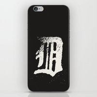 detroit iPhone & iPod Skins featuring Detroit by Landon Sheely