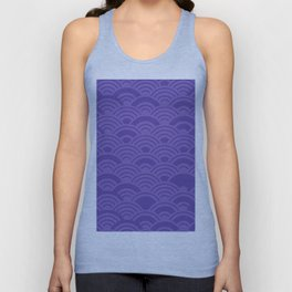 Ultra Violet Color of the Year 2018 Seigaiha seigainami wave of the sea abstract scales Unisex Tank Top