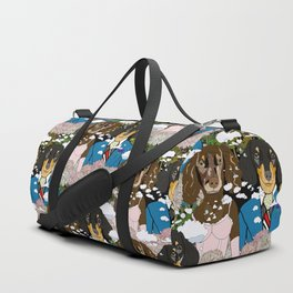 Mr. and Mrs. Dachshund Duffle Bag