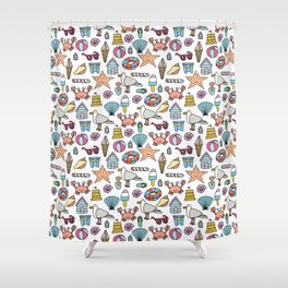 A day at the beach! Shower Curtain
