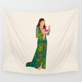 Jlo Eating Jello - Jennifer Green Dress Wall Tapestry