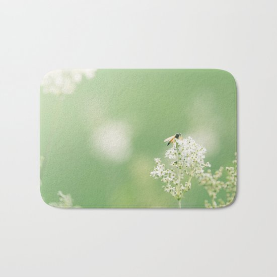 Bee on Flower Bath Mat