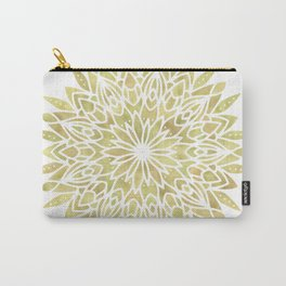 Mandala Yellow Sunflower Carry-All Pouch