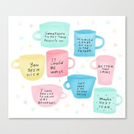 Disapoiment mugs Canvas Print