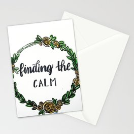 Finding the Calm Stationery Cards