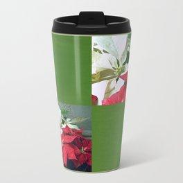 Mixed color Poinsettias 3 Blank Q5F0 Travel Mug