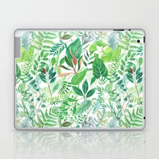greenery watercolor pattern Laptop & iPad Skin