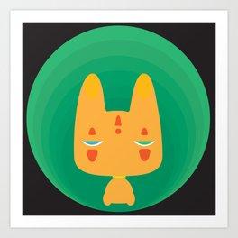 Little Fox [Black Ver.] Art Print