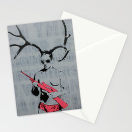 MANHUNT by MrMAHAFFEY Stationery Cards