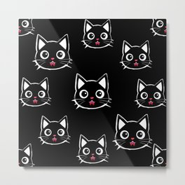 Cute Dracula Cats Metal Print