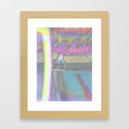 let's go surfing Framed Art Print