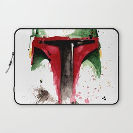 bountyhunter space wars boba Watercolor Laptop Sleeve