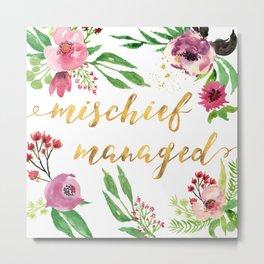 Mischief Managed Garden Metal Print