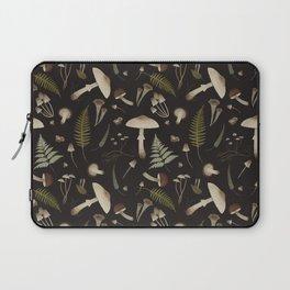 Mushroom pattern 1 black Laptop Sleeve