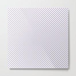 Pastel Lilac Polka Dots Metal Print