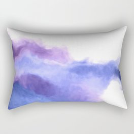 Purple Sky, White Light - abstract Rectangular Pillow