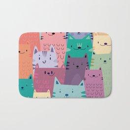 Pastel Cats Bath Mat
