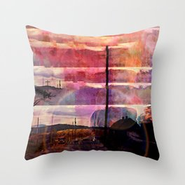Gone Missing Throw Pillow