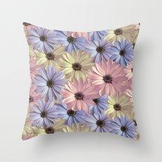 Pink Yellow Blue Throw Pillow