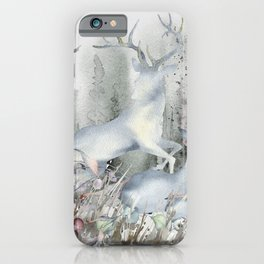 The Deer in My Forest iPhone Case