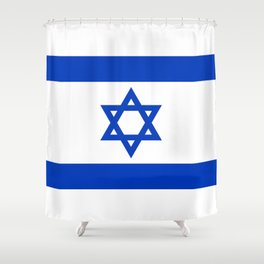 Israel Flag - High Quality image Shower Curtain