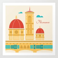 florence Art Prints featuring Florence by Marina Design
