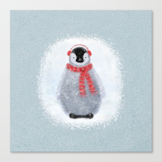 Chilly Little Penguin Canvas Print