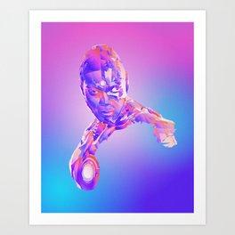 Cyborg, Justice League Art Print