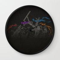 tmnt Wall Clocks featuring TMNT by Daizy Jain