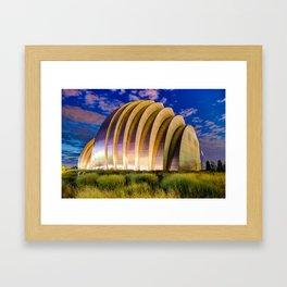 Kauffman Center at Dawn - Kansas City Architectural Colors Framed Art Print