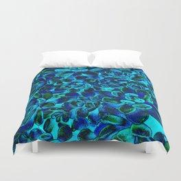 Floral tribute [blue velvet] Duvet Cover